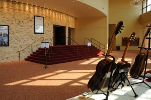 This is the entrance to the concert hall.