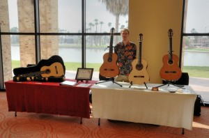 Aaron in the Booth at the Brownsville Guitar Ensemble Festival 2012